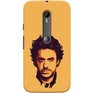 Oyehoye Motorola Moto G3 Mobile Phone Back Cover With Robert Downey Jr. - Durable Matte Finish Hard Plastic Slim Case