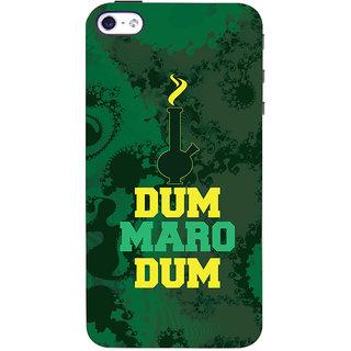 Oyehoye Apple iPhone 4S Mobile Phone Back Cover With Dum Maro Dum Quirky - Durable Matte Finish Hard Plastic Slim Case