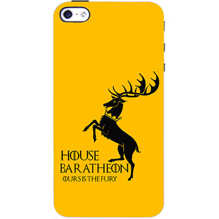Oyehoye   4S Mobile Phone Back Cover With Game Of Thrones - Durable Matte Finish Hard Plastic Slim Case