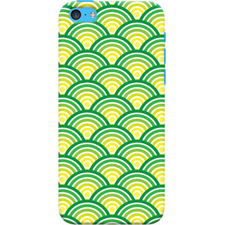 Oyehoye   5C Mobile Phone Back Cover With Pattern Style - Durable Matte Finish Hard Plastic Slim Case