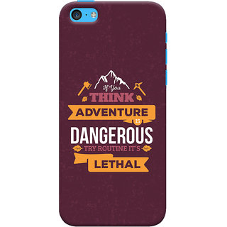Oyehoye Apple iPhone 5C Mobile Phone Back Cover With Motivational Quote - Durable Matte Finish Hard Plastic Slim Case