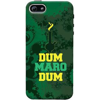 Oyehoye Apple iPhone 5 Mobile Phone Back Cover With Dum Maro Dum Quirky - Durable Matte Finish Hard Plastic Slim Case