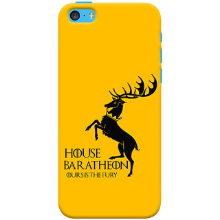 Oyehoye   5S Mobile Phone Back Cover With Game Of Thrones - Durable Matte Finish Hard Plastic Slim Case