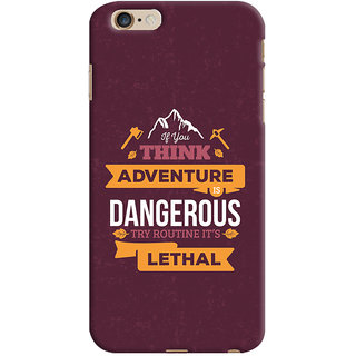 Oyehoye   6 Plus Mobile Phone Back Cover With Motivational Quote - Durable Matte Finish Hard Plastic Slim Case