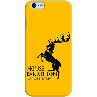 Oyehoye Apple iPhone 6S Mobile Phone Back Cover With Game Of Thrones - Durable Matte Finish Hard Plastic Slim Case