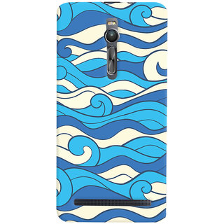 Oyehoye Asus Zenfone 2 ZE551ML Mobile Phone Back Cover With Pattern Style - Durable Matte Finish Hard Plastic Slim Case