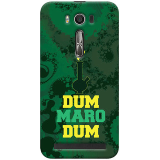 Oyehoye Asus Zenfone 2 Laser ZE500KL Mobile Phone Back Cover With Dum Maro Dum Quirky - Durable Matte Finish Hard Plastic Slim Case