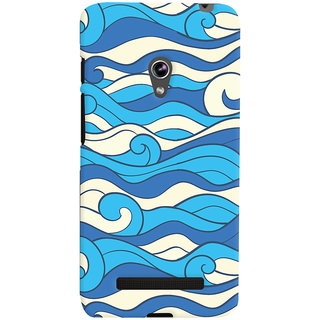 Oyehoye Asus Zenfone 5 Mobile Phone Back Cover With Pattern Style - Durable Matte Finish Hard Plastic Slim Case