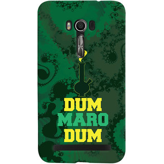 Oyehoye Asus Zenfone Go Mobile Phone Back Cover With Dum Maro Dum Quirky - Durable Matte Finish Hard Plastic Slim Case