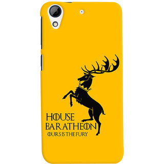 Oyehoye HTC Desire 728 / 728G / Dual Sim Mobile Phone Back Cover With Game Of Thrones - Durable Matte Finish Hard Plastic Slim Case