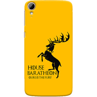 Oyehoye HTC Desire 828 / Dual Sim Mobile Phone Back Cover With Game Of Thrones - Durable Matte Finish Hard Plastic Slim Case