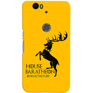 Oyehoye Huawei Google Nexus 6P Mobile Phone Back Cover With Game Of Thrones - Durable Matte Finish Hard Plastic Slim Case
