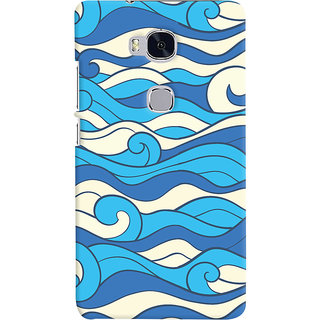 Oyehoye Huawei Honor 5X / Dual Sim Mobile Phone Back Cover With Pattern Style - Durable Matte Finish Hard Plastic Slim Case