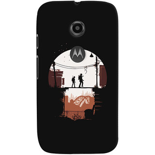 Oyehoye Motorola Moto E2 Mobile Phone Back Cover With Travellers Quirky - Durable Matte Finish Hard Plastic Slim Case
