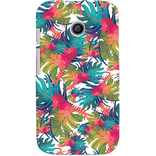 Oyehoye Motorola Moto E Mobile Phone Back Cover With Colourful Abstract Art - Durable Matte Finish Hard Plastic Slim Case