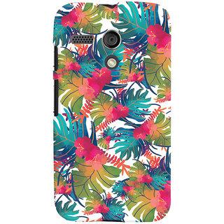 Oyehoye Motorola Moto G Mobile Phone Back Cover With Colourful Abstract Art - Durable Matte Finish Hard Plastic Slim Case