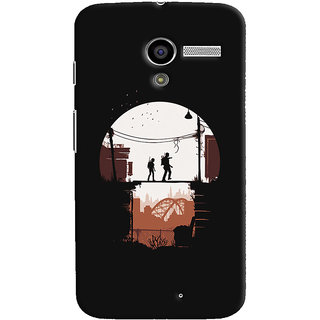 Oyehoye Motorola Moto X Mobile Phone Back Cover With Travellers Quirky - Durable Matte Finish Hard Plastic Slim Case
