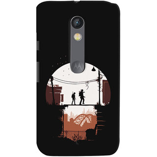 Oyehoye Motorola Moto X Play Mobile Phone Back Cover With Travellers Quirky - Durable Matte Finish Hard Plastic Slim Case
