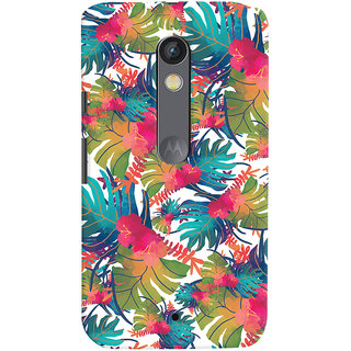 Oyehoye Motorola Moto X Play Mobile Phone Back Cover With Colourful Abstract Art - Durable Matte Finish Hard Plastic Slim Case