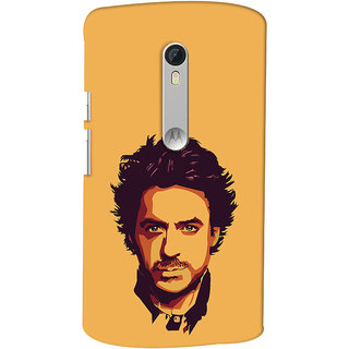 Oyehoye Motorola Moto X Style Mobile Phone Back Cover With Robert Downey Jr. - Durable Matte Finish Hard Plastic Slim Case
