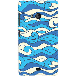 Oyehoye Microsoft Lumia 540 Mobile Phone Back Cover With Pattern Style - Durable Matte Finish Hard Plastic Slim Case