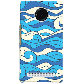 Oyehoye Micromax Yuphoria Mobile Phone Back Cover With Pattern Style - Durable Matte Finish Hard Plastic Slim Case