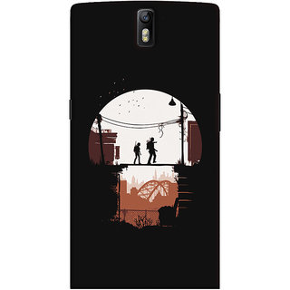 Oyehoye OnePlus One Mobile Phone Back Cover With Travellers Quirky - Durable Matte Finish Hard Plastic Slim Case