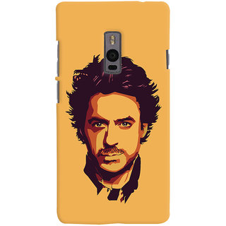 Oyehoye OnePlus 2 Mobile Phone Back Cover With Robert Downey Jr. - Durable Matte Finish Hard Plastic Slim Case