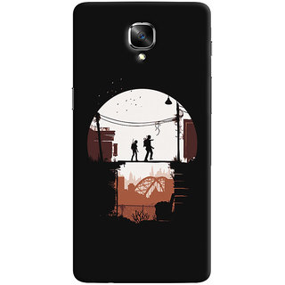 Oyehoye OnePlus 3 Mobile Phone Back Cover With Travellers Quirky - Durable Matte Finish Hard Plastic Slim Case