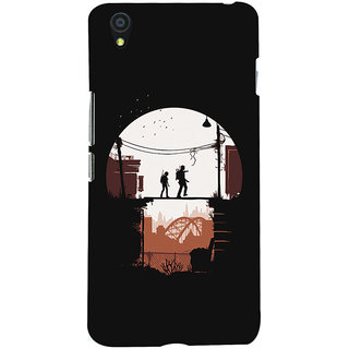 Oyehoye OnePlus X Mobile Phone Back Cover With Travellers Quirky - Durable Matte Finish Hard Plastic Slim Case