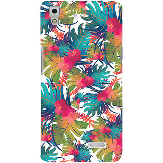 Oyehoye Oppo R7 Mobile Phone Back Cover With Colourful Abstract Art - Durable Matte Finish Hard Plastic Slim Case