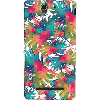 Oyehoye Sony Xperia C3 / Dual Sim Mobile Phone Back Cover With Colourful Abstract Art - Durable Matte Finish Hard Plastic Slim Case