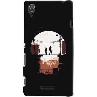 Oyehoye Sony Xperia T3 Mobile Phone Back Cover With Travellers Quirky - Durable Matte Finish Hard Plastic Slim Case