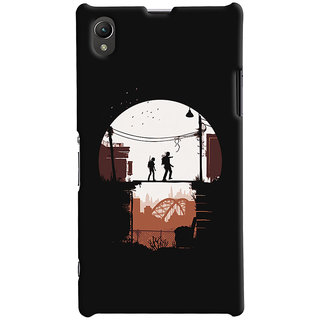 Oyehoye Sony Xperia Z1 Mobile Phone Back Cover With Travellers Quirky - Durable Matte Finish Hard Plastic Slim Case