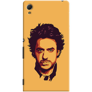Oyehoye Sony Xperia Z4 Mobile Phone Back Cover With Robert Downey Jr. - Durable Matte Finish Hard Plastic Slim Case