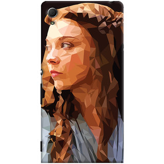 Oyehoye Sony Xperia Z4 Mobile Phone Back Cover With Low Poly Art - Durable Matte Finish Hard Plastic Slim Case