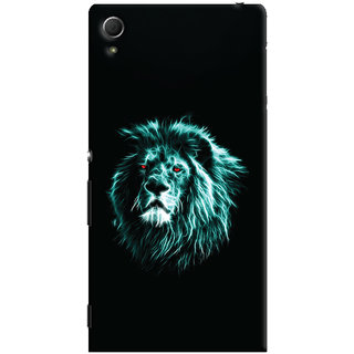 Oyehoye Sony Xperia Z4 Mobile Phone Back Cover With Lion Animal Art - Durable Matte Finish Hard Plastic Slim Case