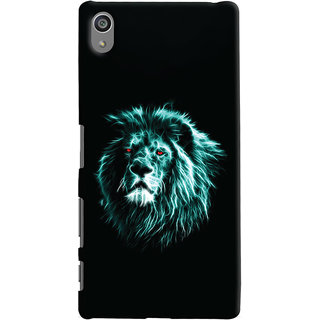 Oyehoye Sony Xperia Z5 Plus/ Z5 Premium Mobile Phone Back Cover With Lion Animal Art - Durable Matte Finish Hard Plastic Slim Case