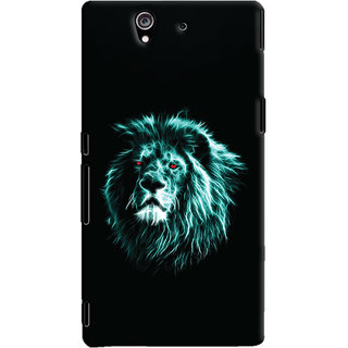 Oyehoye Sony Xperia Z Mobile Phone Back Cover With Lion Animal Art - Durable Matte Finish Hard Plastic Slim Case
