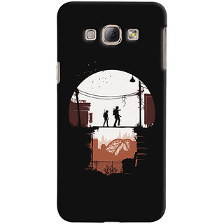 Oyehoye Samsung Galaxy A8 (2015) Mobile Phone Back Cover With Travellers Quirky - Durable Matte Finish Hard Plastic Slim Case