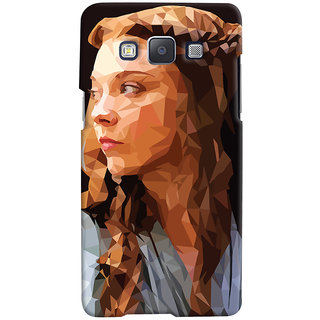 Oyehoye Samsung Galaxy E5 Mobile Phone Back Cover With Low Poly Art - Durable Matte Finish Hard Plastic Slim Case