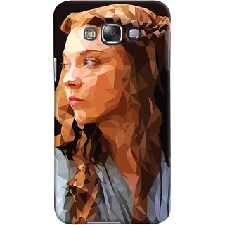 Oyehoye Samsung Galaxy E7 Mobile Phone Back Cover With Low Poly Art - Durable Matte Finish Hard Plastic Slim Case
