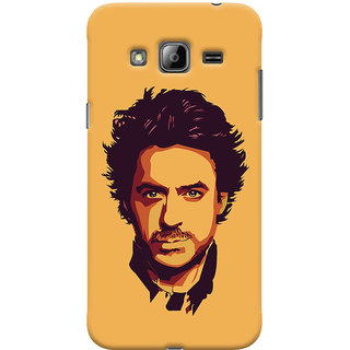 Oyehoye Samsung Galaxy J3 Mobile Phone Back Cover With Robert Downey Jr. - Durable Matte Finish Hard Plastic Slim Case