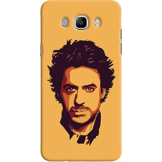 Oyehoye Samsung Galaxy J5 (2016) Mobile Phone Back Cover With Robert Downey Jr. - Durable Matte Finish Hard Plastic Slim Case