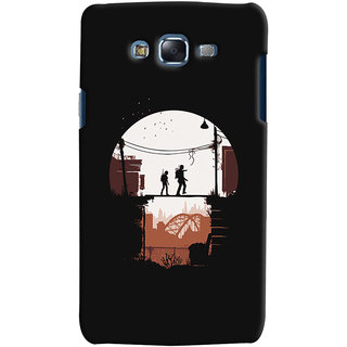 Oyehoye Samsung Galaxy J7 Mobile Phone Back Cover With Travellers Quirky - Durable Matte Finish Hard Plastic Slim Case