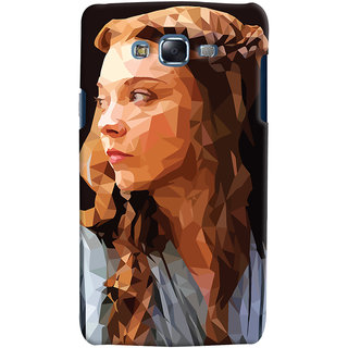 Oyehoye Samsung Galaxy J7 Mobile Phone Back Cover With Low Poly Art - Durable Matte Finish Hard Plastic Slim Case