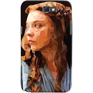 Oyehoye Samsung Galaxy Note 2 Mobile Phone Back Cover With Low Poly Art - Durable Matte Finish Hard Plastic Slim Case