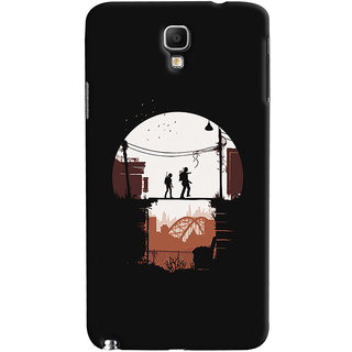 Oyehoye Galaxy Note 3 Neo Mobile Phone Back Cover With Travellers Quirky - Durable Matte Finish Hard Plastic Slim Case