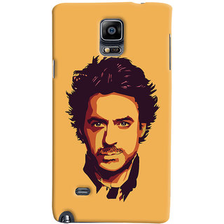 Oyehoye Samsung Galaxy Note 4 Mobile Phone Back Cover With Robert Downey Jr. - Durable Matte Finish Hard Plastic Slim Case