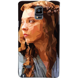 Oyehoye Samsung Galaxy Note 4 Mobile Phone Back Cover With Low Poly Art - Durable Matte Finish Hard Plastic Slim Case